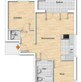 Erstbezug einer 3-Zimmer-Neubauwohnung