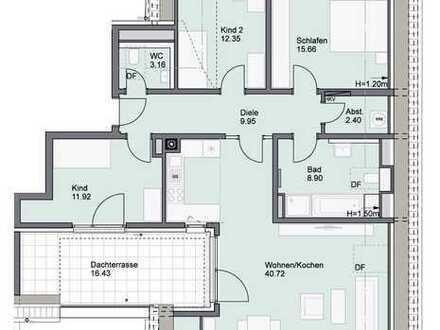 Klasse 4-Zimmer-NEUBAU-Wohnung mit Dachterrasse in Neumarkt