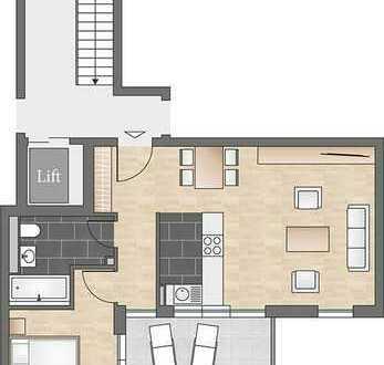 Ideal für Singles: 2-Zi.-Wohnung mit offener Küche und Süd-Balkon
