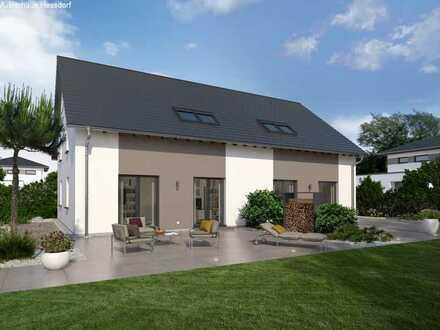 Wohnen in der Natur Okal Doppelhaushälfte 200qm mit Keller in Nürnberg Gartenstadt am alten Kanal