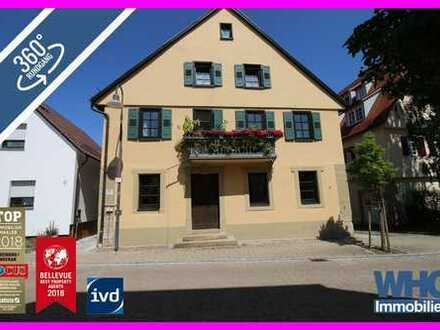 Kapitalanlage: Denkmalgeschütztes 4-5-Familienhaus mit Doppelgarage, Balkon und Gewölbekeller