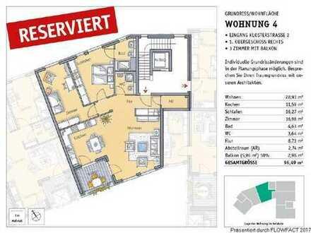 RESERVIERT! Toll geschnittene 3 Zimmer Neubauwohnung in Alt-Richrath!