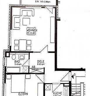 Helle gepflegte 2-Zimmer-Wohnung in kleiner Wohnanlage mit Balkon in Bemerode nahe Kirchrode v. Priv