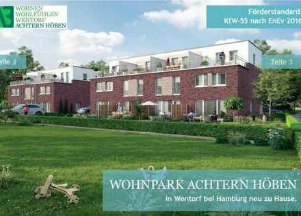 Neubau Exklusives 4 Zimmer Reihenhaus mit Vollkeller, zwei Terrassen und Stellplatz