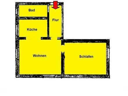 Renovierte 2 Zi.-KDB (EG) mit Gartennutzung und Kfz-Stellplatz, Nähe Haus Martfeld!