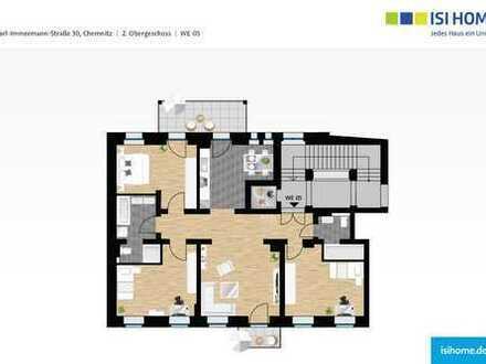 ERSTBEZUG-Chemnitzer 4 Raumwohnung mit Balkon