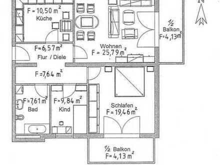 Ideal für das Paar oder die kleine Familie + EBK + 2x Stellplatz inkl. + 2x Balkon