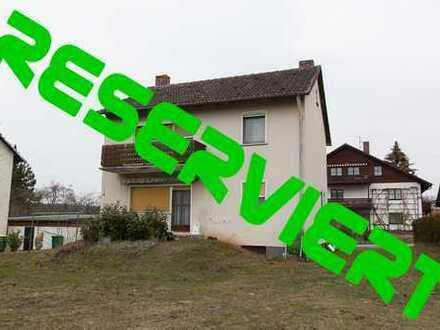 Sanierungsobjekt! Preisgünstiges Einfamilienhaus auf großzügigem Grundstück in ruhiger Wohnlage!!!