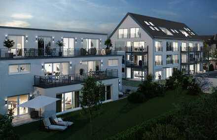 bereits 90% verkauft! provisionsfreie sonnige 3 ZKB-Terrassenwhg. mit Garten +TG - Top-City-Lage