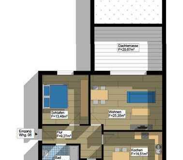 Stadtnahe 2-Zimmer-Wohnung mit großzügiger Dachterrasse in Wildeshausen