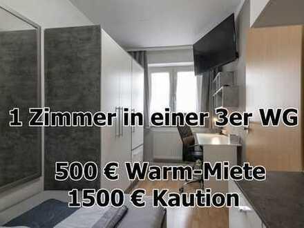 ab sofort- WG Zimmer in Pforzheim Zentrum in möbelierter 3er WG - 550 Meter vom HBF Pforzheim
