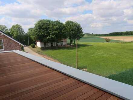 Hochwertiger Neubau für den gehobenen Anspruch mit einer unverbauten Sicht ins Grüne