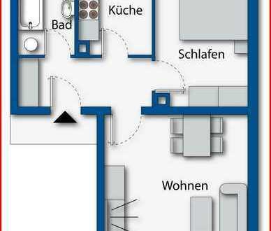 Sehr schön geschnittenes 2-Zimmerapartment in ruhiger Wohnlage von Amberg - die Gelegenheit!