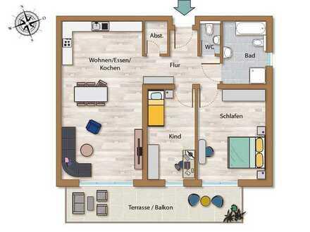 EG-Wohnung mit Terrasse und Garten in exclusiver Wohnanlage mit Tiefgarage!