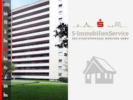 Gut vermietete 2-Zimmer-Wohnung inkl. Tiefgarage und Blick über den Münchner Norden