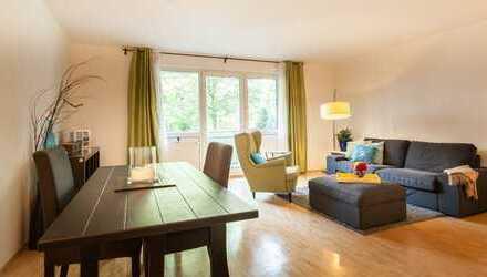 Großzügige 83qm Wfl.-/Nfl , zentral und sehr ruhig gelegene 2 Zimmerwohnung am Westpark, Nähe Harras