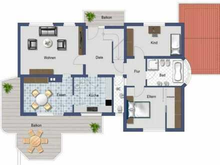 Helle renovierte OG Wohnung im 3-FH zum 01.08.20 zu vermieten