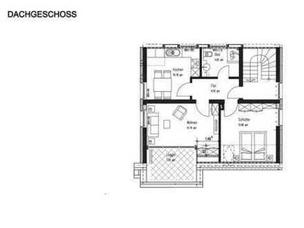 Dachgeschosswohnung mit exklusivem Ausblick