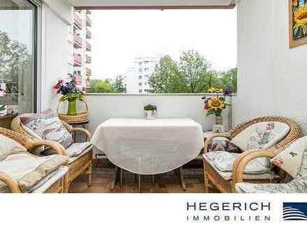 HEGERICH: Charmante Eigentumswohnung mit Loggia in Süd-Ausrichtung