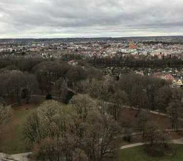 Wohnen über den Dächern von Augsburg im Hotelturm