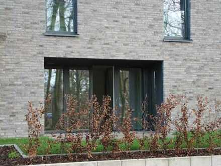 Wohnen am Stadtpark: Neubauwohnung mit Terrasse