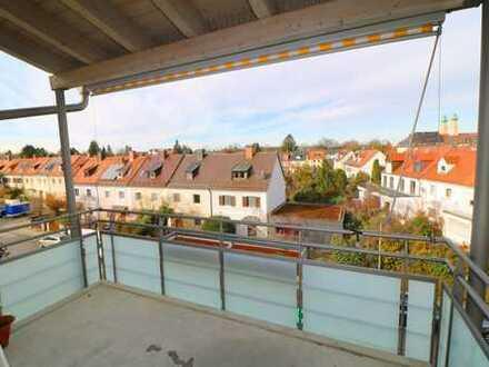 VOLLMÖBLIERT/ FULLY FURNISHED FLAT!: Sehr helle & absolut ruh. 2 Zi.- Stadt-Whg. mit West-Balkon!