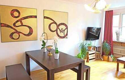 MÖBLIERT & AUF ZEIT: Komfortable 2-Zimmer-Wohnung mit Balkon - direkt an der U3/U6