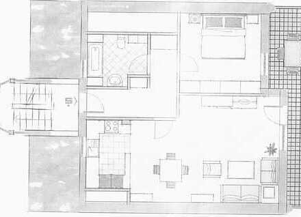 Gepflegte 2-Zimmer-Dachgeschosswohnung mit Balkon in Havixbeck
