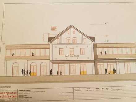 Arbeiten mit Seeblick + herrliche Dachterrasse - Gewerberäume im sanierten Bahnhofsgebäude
