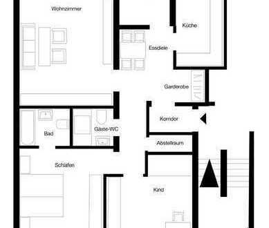 Günstige 3-Zimmer-EG-Wohnung mit Balkon und Einbauküche in Bremerhaven