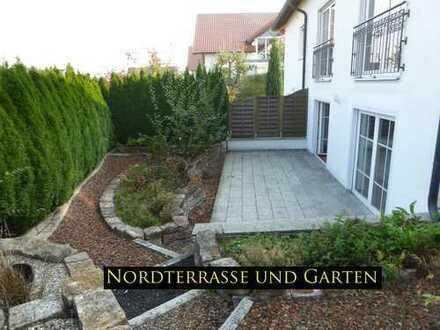 Große, ruhige 5-Zimmer-Maisonettewohnung mit Pracht-Garten, Nord- u. Südterr., 151 m² Wfl.