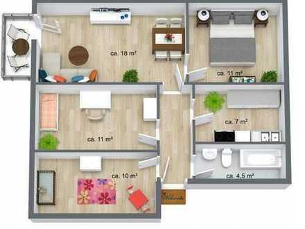 Gut geschnittene 4-Raumwohnung