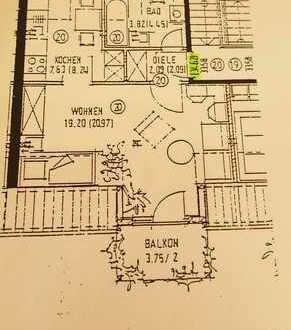 Renovierte 1-Zimmer-DG-Wohnung mit großem SüdBalkon in Augsburg