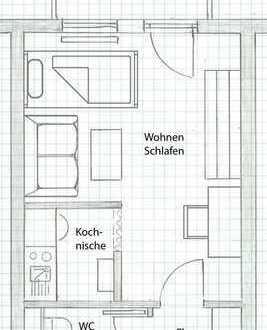 Attraktiv gelegene 1-Zi.-Wohnung inkl. Balkon / Tiefgaragenplatz / Kellerraum