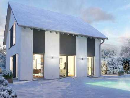 Ein Haus mit Keller für die junge Familie inklusive Kaminofen und Nolte Einbauküche.