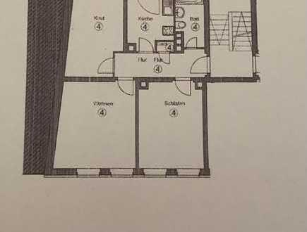 Gepflegte 3-Raum-Wohnung mit Balkon in Nürnberg St. Sebald