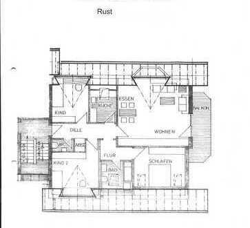 Stilvolle, gepflegte 4-Zimmer-Dachgeschosswohnung mit Balkon und Einbauküche in Rust
