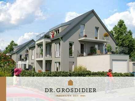 Dr. Grosdidier: Schöne 3-Zi.-DG-Whg. mit Balkon und Dachterrasse! Neubau! Erstbezug!