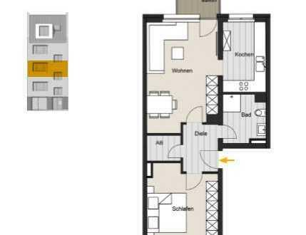 Living Ehrenfeld! 2-Zimmer- Wohnung in der Christianstr. 40 zu verkaufen. WE 03