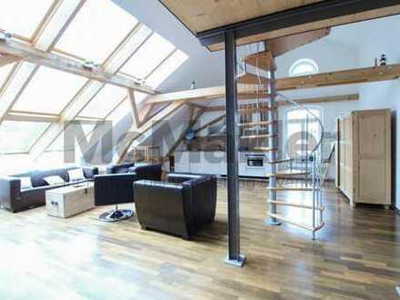 Luxus in Augsburger Toplage: 1-2 hochwertig sanierte ETW mit Dachterrasse und 2 TG-Stellplätzen