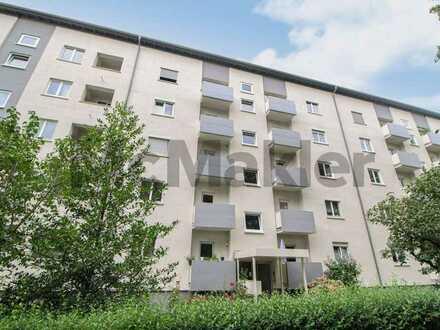 Zentrumsnah: Attraktive 3-Zi.-Wohnung mit 2 Balkonen und Garten