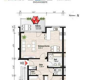 Schön geschnittene Wohnung mit Balkon im 1. OG (ETW Nr. 8)