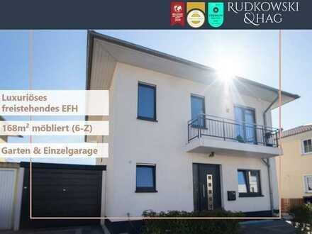 Luxuriöses freistehendes EFH || hochwertig möbliert || Garage