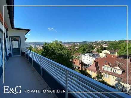 Erstbezug: 4-Zimmer-Wohnung mit traumhaftem Blick in exklusiver Halbhöhenlage am Killesberg