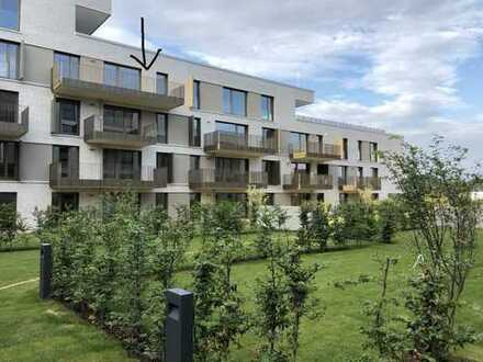 NEUBAU Erstbezug mit EBK: helle 3-Zimmer Wohnung mit Rheinblick (3. Stock) inkl. Luxus-Einbauküche