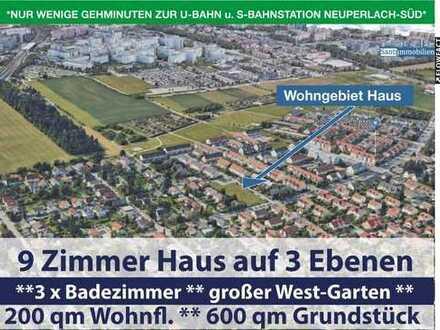 Bestlage!!! 9 Zi. Haus mit 3 Bäder, Westgarten