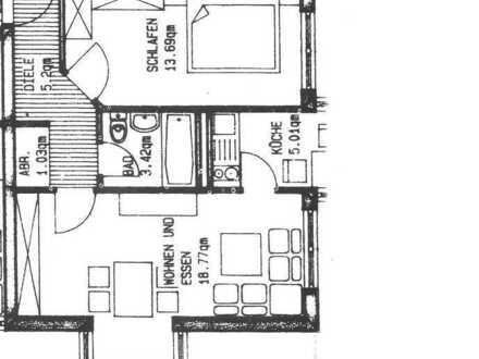 Zweizimmer Küche Bad, verkehrsgünstige Lage in Weinheim