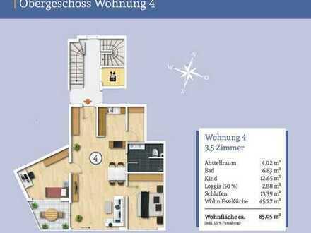 Durchdachte 3,5-Zi.-Wohnung im Obergeschoss mit Balkon