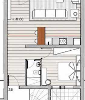 Frisch saniertes 1 Zimmer Appartment mit Balkon und Blick über die Rheinebene