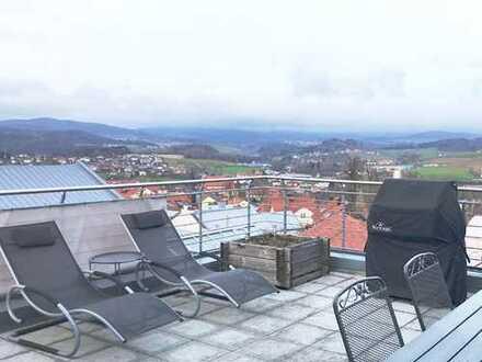Neuwertige 2,5-Zimmer-Penthouse-Wohnung mit Dachterasse, EBK und Wellnessbad